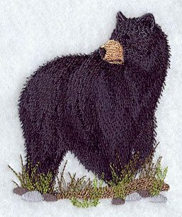 American Black Bear 2 Embroidered Terry by forgetmeknottreasure