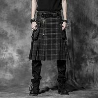 Nueva Punk Rave Gothic Rock hombres moda falda pantalones de carga Kera Emo sml XL XXL 3XL
