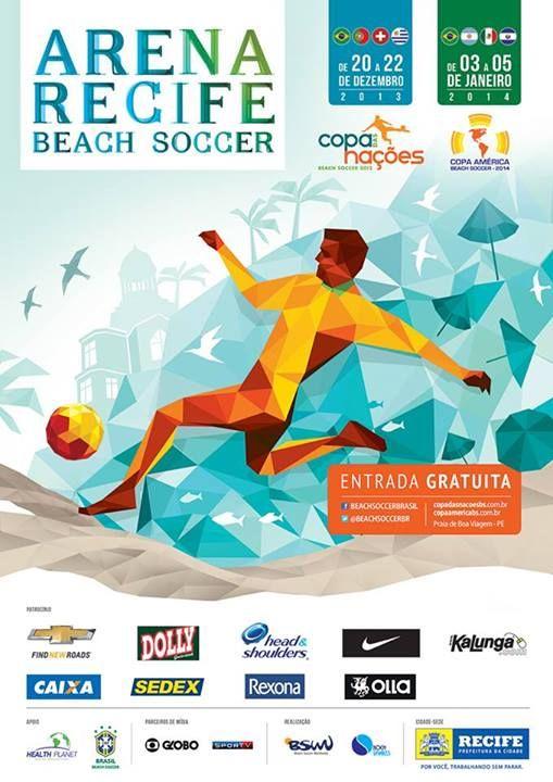 2014 Copa America Beach Soccer poster