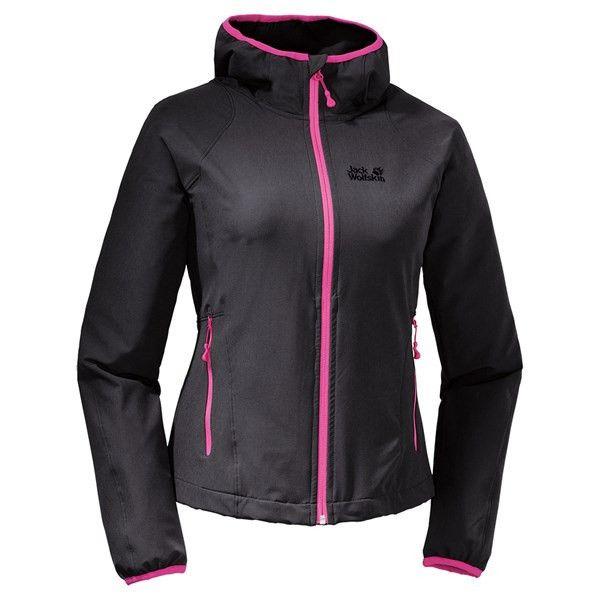 Softshell jacke damen schwarz pink