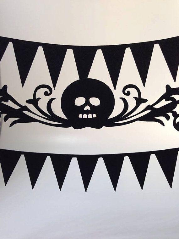 #skulls #halloween  paper skulls for Halloween? Too cute