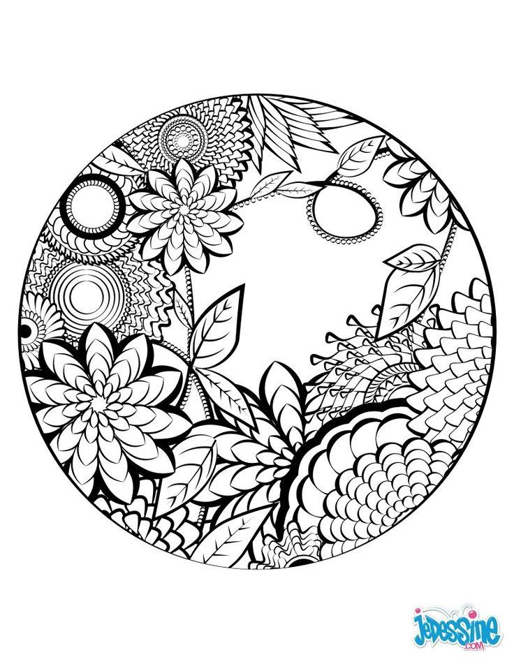 Coloriage : Mandala à colorier