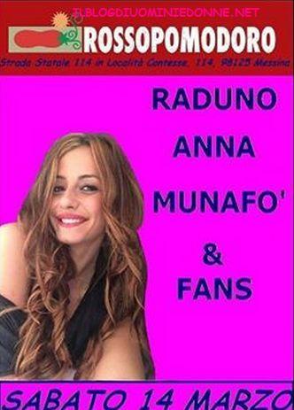 La ex tronista Anna Munafò vi aspetta tutti insieme appassionatamente al suo prossimo raduno a ....