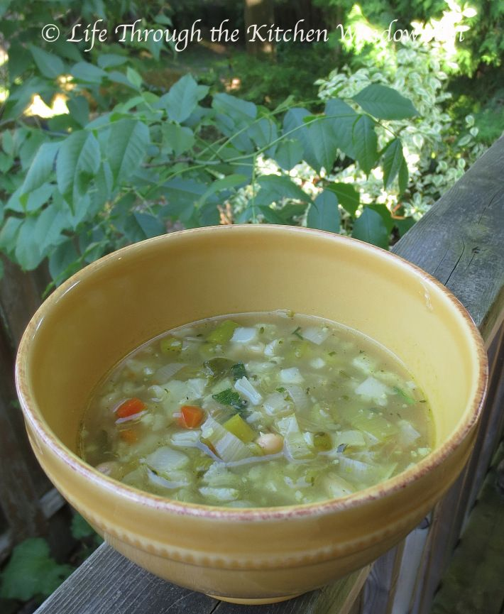 Clean-Out-the-Fridge Spring Soup | © Life Through the Kitchen Window.com