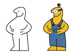 Ikea man coloured as a minion from Despicable Me.