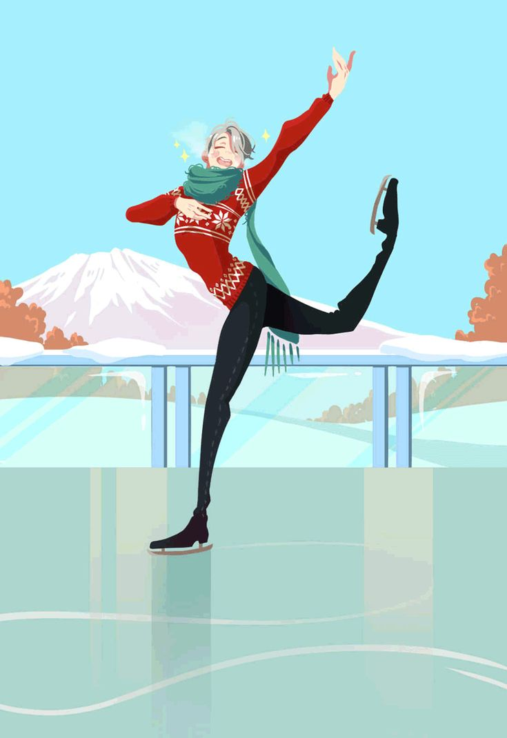 "yuilien: "" ""Shall we skate?"" ( ö ♡ ö )/ *Viktor who just posed after his finale next to Mt Fuji  lol is planning on uploading his photo on Instagram* lol Viktor on ice!!! ack I love viktor when he has a ♡ shaped mouth QuQ) the most adorablest thing..."