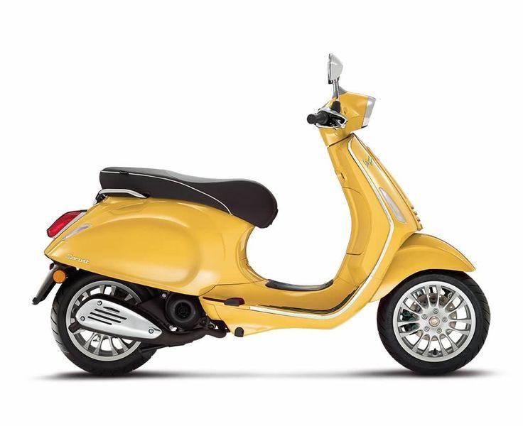 Vespa Primavera yellow