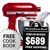 KitchenAid KSM150 Mixers Just $689 with a FREE Cookbook!