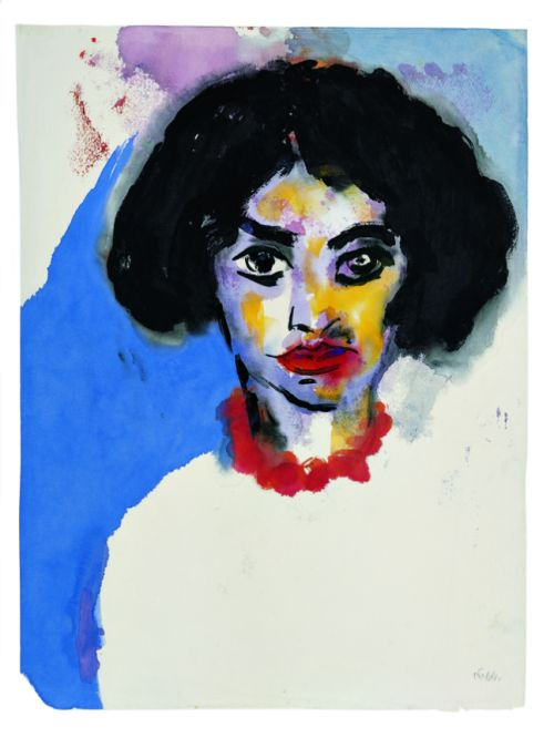Emil Nolde (German, 1867-1956), Frau T. mit roter Kette [Mrs. T. with Red…