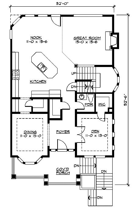 Plan 2349JD: Timeless Rustic Exterior in 2 Sizes