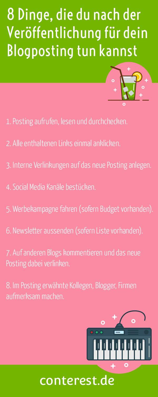 8 Dinge, die du nach der Veröffentlichung für dein Blogposting tun kannst