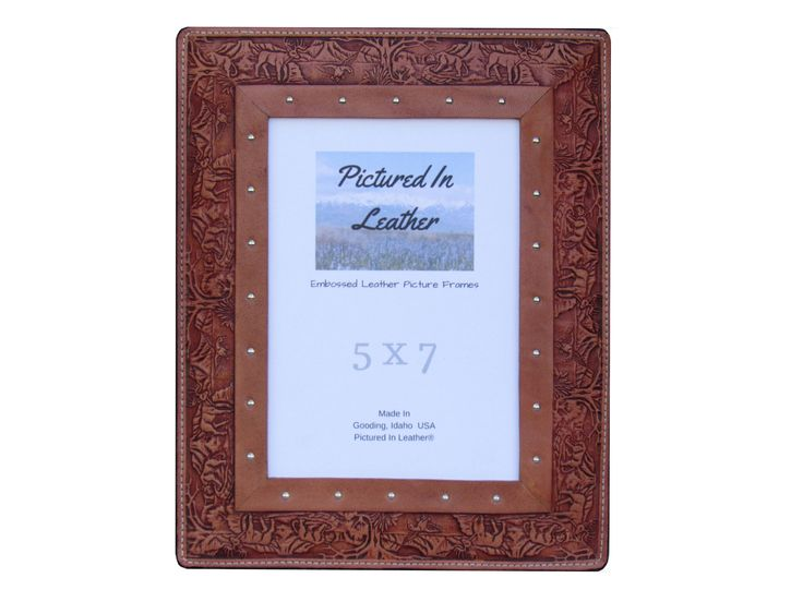 Wildlife photo frame, 5x7 leather picture frame, outdoorsy gifts, mans gift, hunting gift, nature lover gift, hunter frame, hunting keepsake