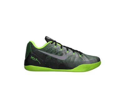 Zapatos de baloncesto negro y verde