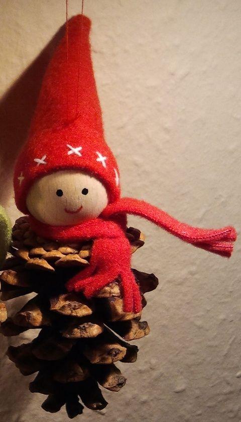 Tobozmanó, Karácsonyi, adventi apróságok, Karácsonyfadísz, Karácsonyi dekoráció, Varrás, Mindenmás, Meska