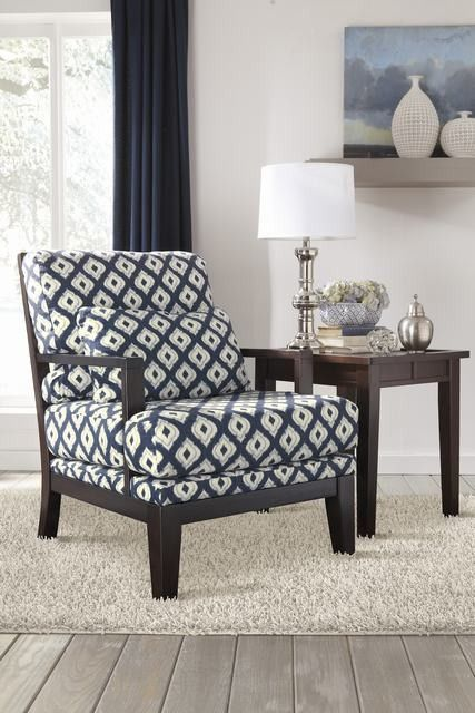 Ashley 5640060 Keendre Indigo Showood Accent Chair Dazillion Furniture Etc New House