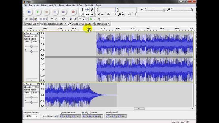 Audacity : vágás, zenék egymásba fűzése
