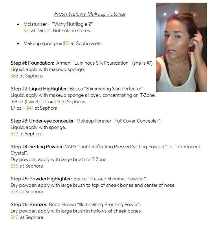 Step by step guide from Jessie James Decker on how to get that fresh & dewy look. (products and prices listed too) as seen on her YouTube tutorial.  Click through for video. #JJD