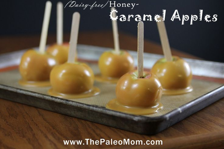 Caramel Apples (Dairy-Free, AIP-friendly) - The Paleo Mom: honey, coconut cream (from canned coconut), salt, apples.