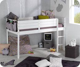 #cama #mediaalta #habitacion #juvenil #mueble #ecológico #sostenible #infantil
