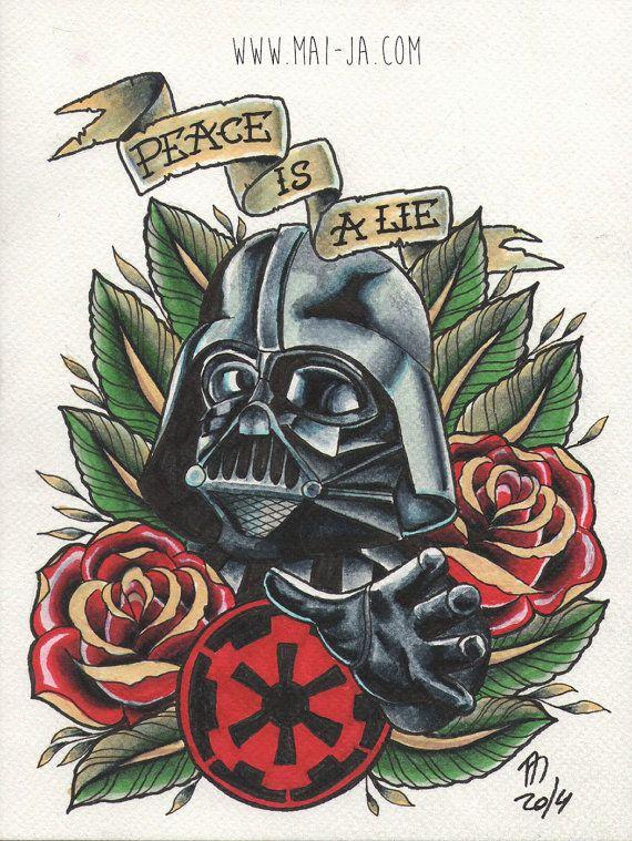 Darth Vader Original Drawing by maimaiart on Etsy, $95.00
