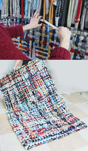 Manique bricolage tapis tutoriel