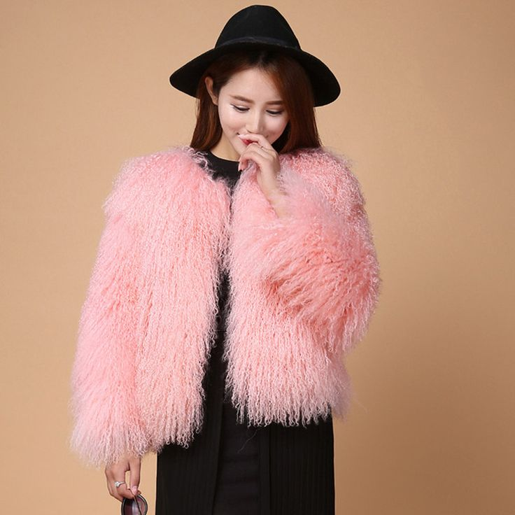 Find More Fur & Faux Fur Information about New Fashion Genuine Women Fur  Coat Real Mongolia