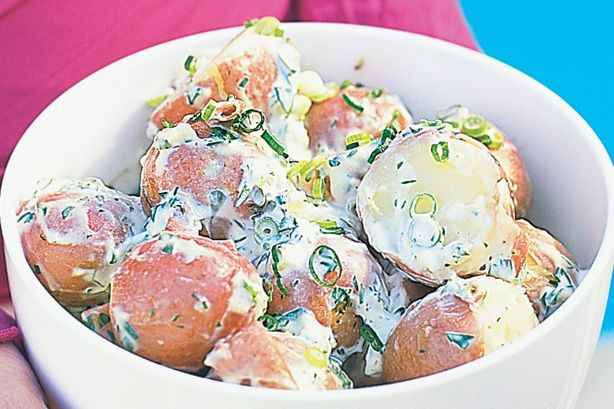 A simple potato salad that packs a punch of flavour.