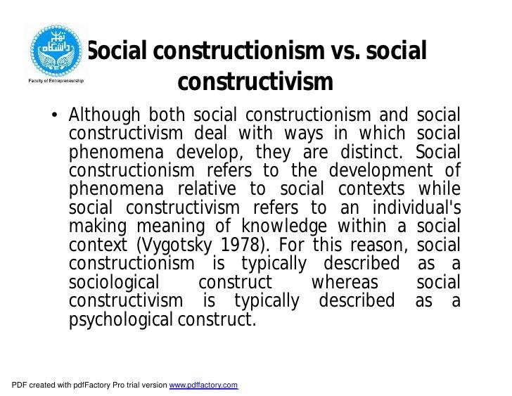 Social constructionism vs social constructivism