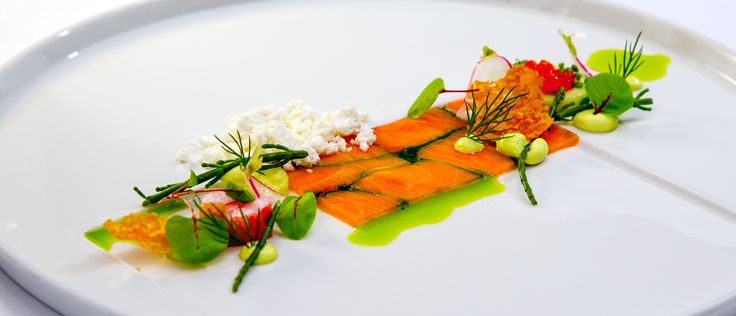Nordic Salmon Dinner in Helsinki, Finland. http://www.kontikifinland.com/holidays/destination/1194732/helsinki-archipelago/helsinki-archipelago-tour-cruise-and-fine-dining-dinner-island-to-table-experience A21.fi