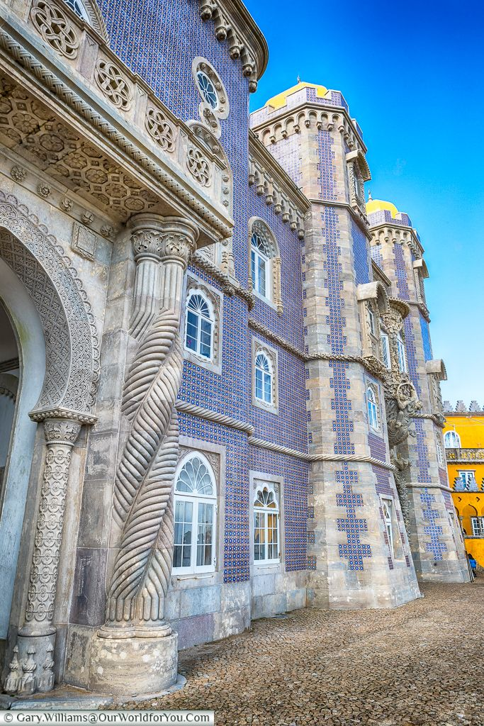 The detail in the Palace of Pena, Sintra, Portugal