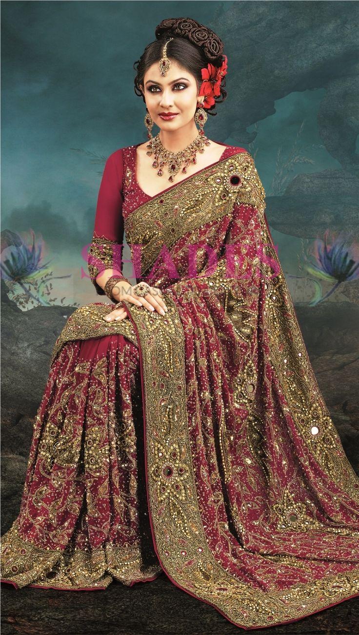 shadesandyou.com has brought a fresh reflection of innovative designs of bridal Sarees. Check this out!   #WeddingSarees #BridalSarees #BuySareesOnline #IndianDesignerSarees #WeddingSaree #IndianEthnicWear