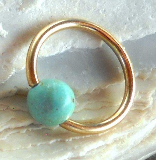 Pavlos Handmade Studio: Captive Gemstone Bead Septum,Upper Ear Daith Rook,...