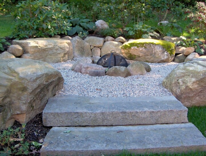 Fire Pit With Gravel Pool Pinterest