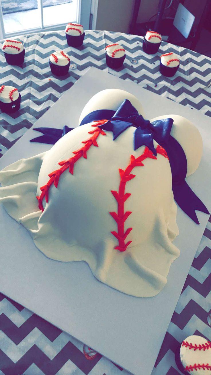 Baby Shower baseball theme cake!