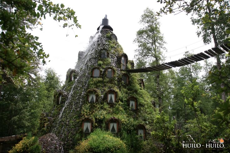 Montaña Mágica Lodge in the Huilo-Huilo region of Chile...so much to discover about this beautiful country!