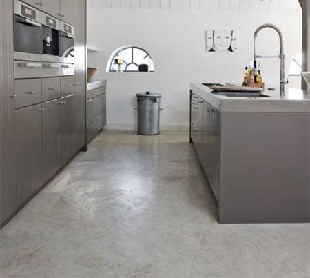 Home-Dzine - Self-levelling cement screed floor in kitchen