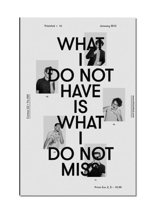 What I Do Not Have