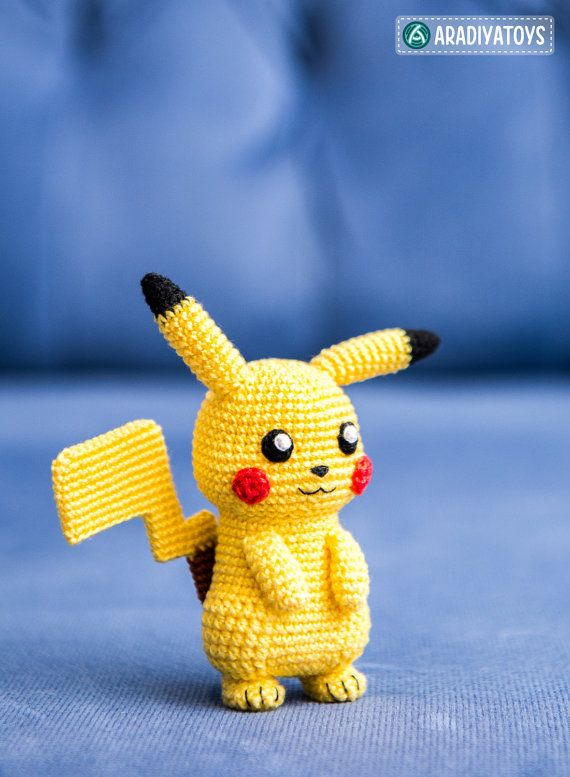 Crochet Pattern of Pikachu from Pokemon Amigurumi by Aradiya
