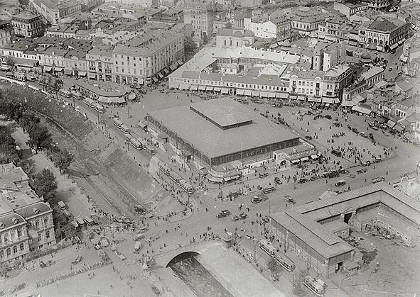 Bucuresti, zona Unirii, foto aeriene anii '20