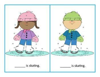 Winter Pronoun Cards Freebie