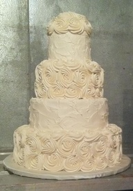 buttercream ombre wedding cake | rosettes! Buttercream Wedding Cake