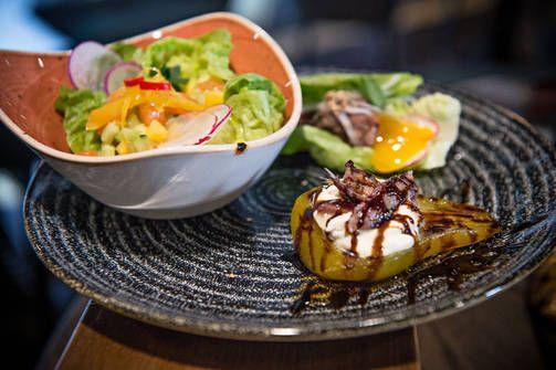 Yksi ravintola Másin suosikkitapaksista on edessä oikealla oleva päärynä.