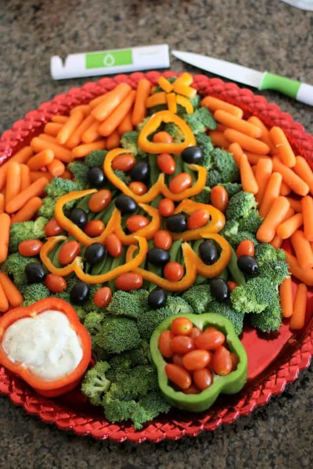 how to make a roasted vegetable platter