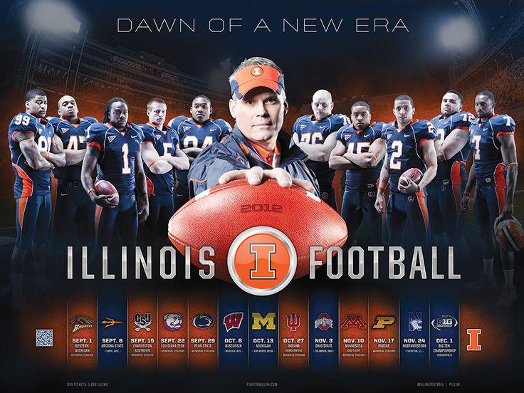 Fighting Illini Football: 2012 Illinois Football Schedule Poster - IllinoisLoyalty.com