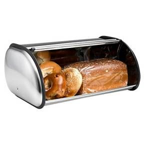 The Deluxe Bread Bin by Polder is a large capacity bin made from a Stainless Steel construction. The protective plastic trim prevents scratches while adding a touch of style. Polder's Deluxe Bread Bin has the necessary venting holes to keep bread fresh longer.