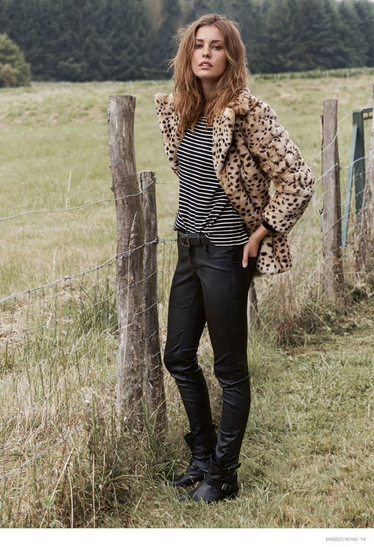 Nadja Bender Models Jackets for Mango Winter 2014 Catalogue