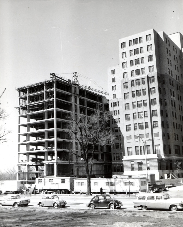 Construction Underway On Queeny Tower. The Seventeen-story