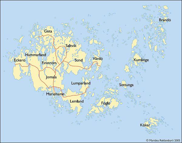 Map of Åland Islands
