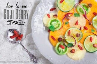 I am eating #Goji, Berry for better sleep and happiness.. #afcfansub,#food,#paelle,#fried bee hoon,#foodstyling, #healthfood, #citrus,#orange,#salad, #shiokoholic,  Go to my blog to see how I use the wonderful berry in my food.  http://shiokoholic.com/1/post/2014/10/goji-ideas.html