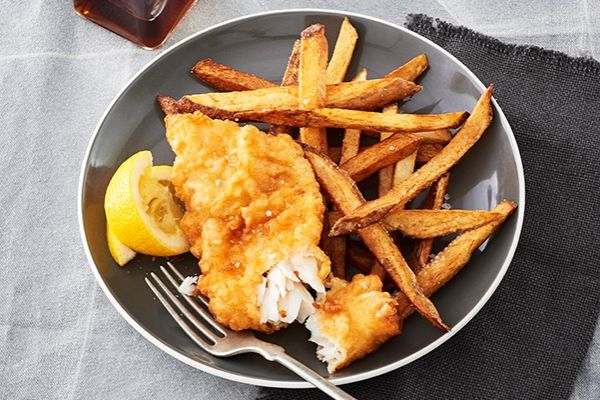 Beer-Battered Pickerel/you can use the batter on any white fish filets